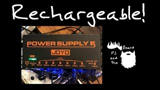 Battery power for your pedal board!