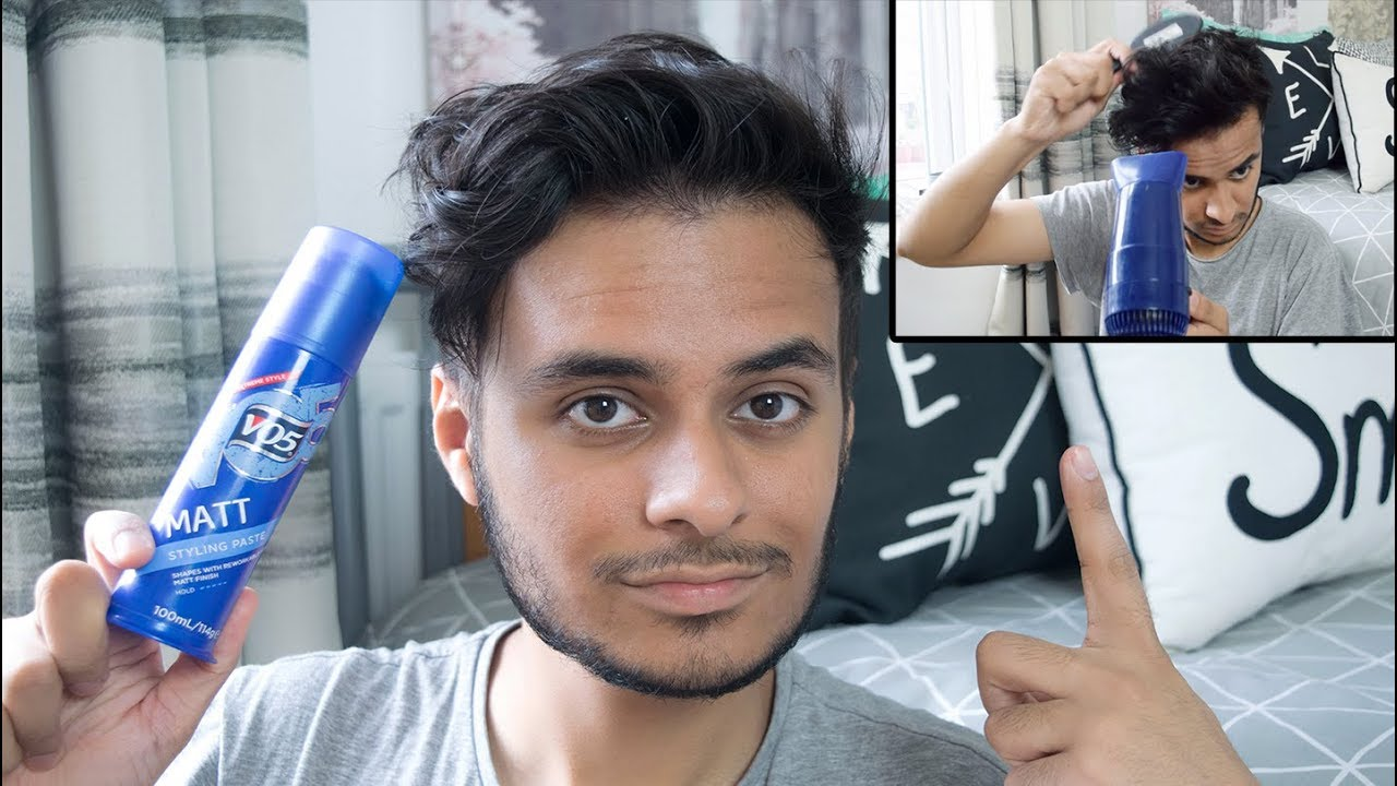Men Hair Styling: VO5 Matt Paste Hair Styling Tutorial
