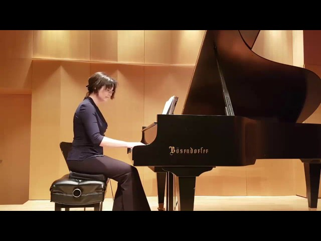 Nancy plays excerpt of Chopin berceuse arrangement