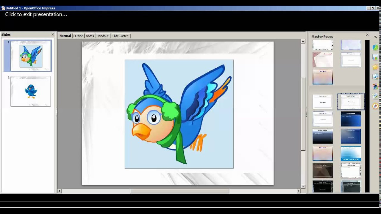How to create animated image in openoffice impress presentation.