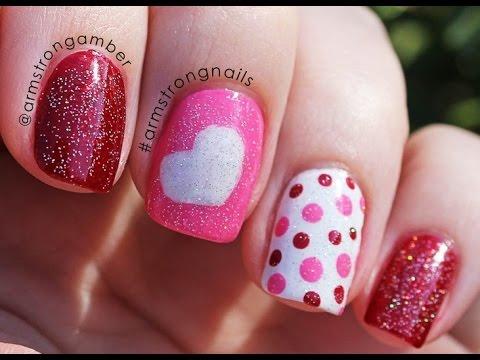 Decoraci n de u as san valent n valentine s day nail - Decoracion de san valentin ...