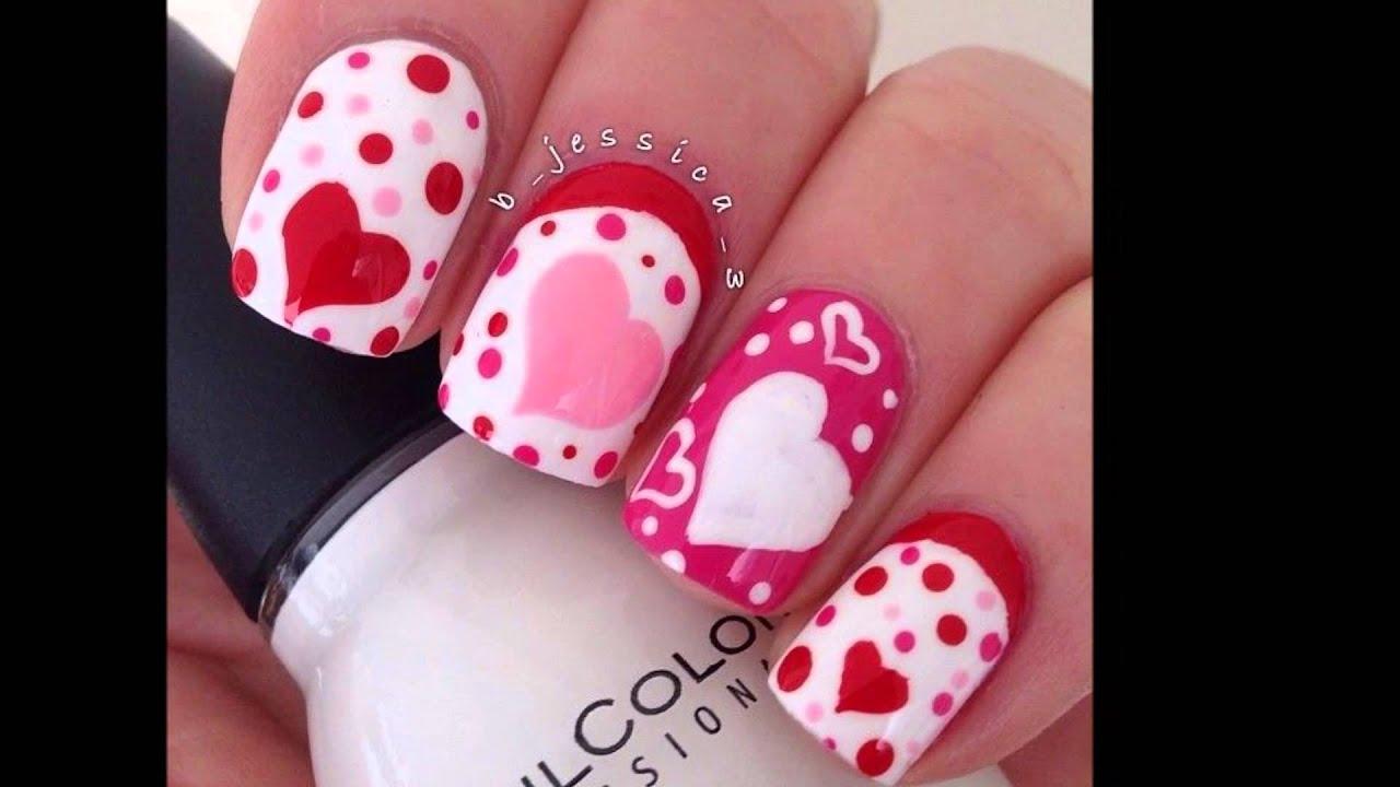 Decoración de Uñas * San Valentín * Valentine´s Day Nail Art - YouTube