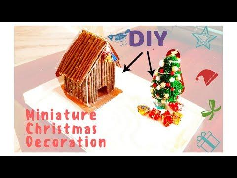 How To Make A Miniature Christmas Zen Garden - DIY Stress - Relieving Desk Decoration
