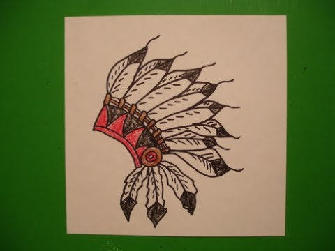 Let's Draw A Native American Headress!