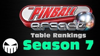 The Pinball Arcade (All Season 7 Tables Ranked)
