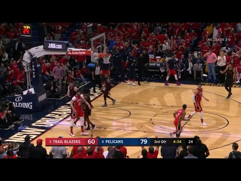 3rd Quarter, One Box Video: New Orleans Pelicans vs. Portland Trail Blazers