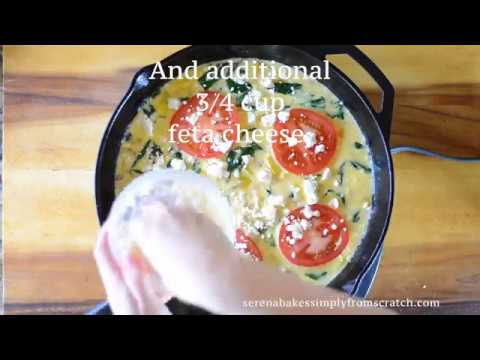 Spinach Feta Tomato Frittata