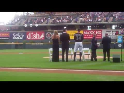 Unveiling and Todd Helton