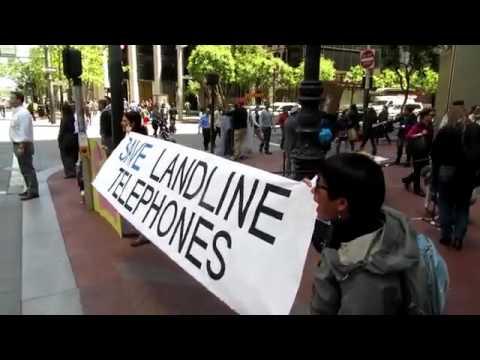 Save Landlines AB2395 Protest at AT&T San Francisco, May 2016