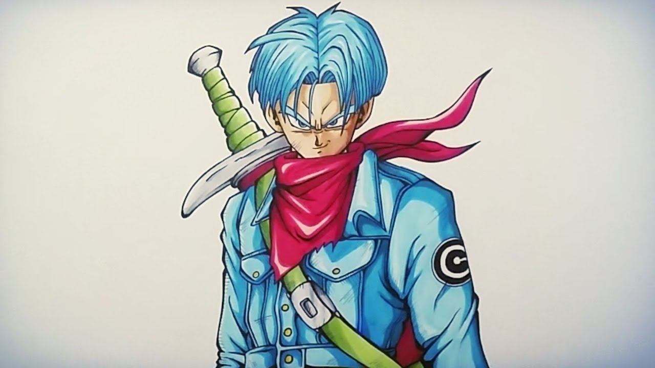 Drawing Future Trunks Dragonball Super Tolgart Youtube