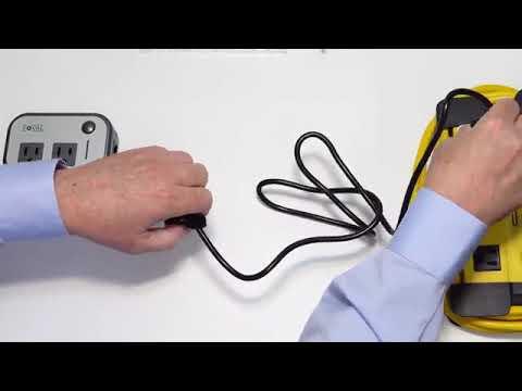Foval Power Step Down 220V To 110V Voltage Converter With 4-Port USB International Travel Adapter