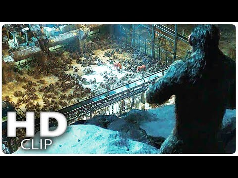 "WAR FOR THE PLANET OF THE APES ""Ape Prison"" Clip + Trailer (2017)"