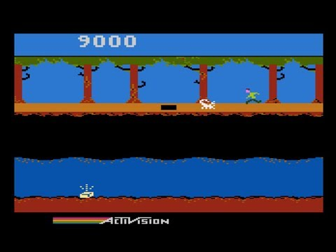 Pitfall II - Lost Caverns (redrawn sprites hack) for Atari 8-bit computers