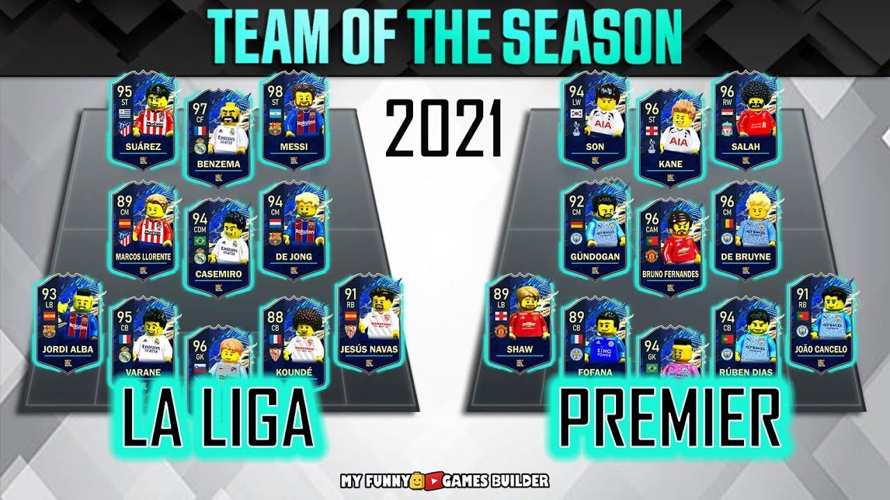 Download La Liga vs Premier League in Lego • TOTS FIFA 21 • Team Of The Season 2021 in Lego Football Film