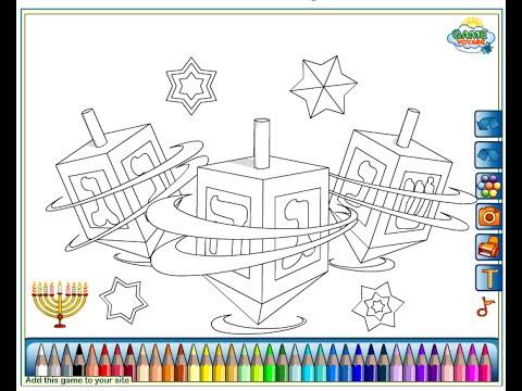 Dreidel Coloring Pages For Kids Dreidel Coloring Pages