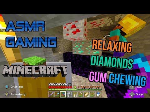 ASMR Gaming 💎 Minecraft Relaxing Diamonds Mining Gum Chewing 🎮🎧Controller Sounds😴💤