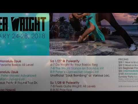 Peter Wright Honolulu Zouk Weekend Jan 2018