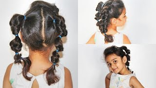 EASY  girls Hairstyle/Easy Topsytail Pigtails/Cute Ears Hairstyle.