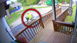 Kind Sanitation Worker Helps Elderly Woman With Trash Can
