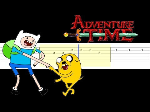 Adventure Time Theme Easy Guitar Tabs Tutorial