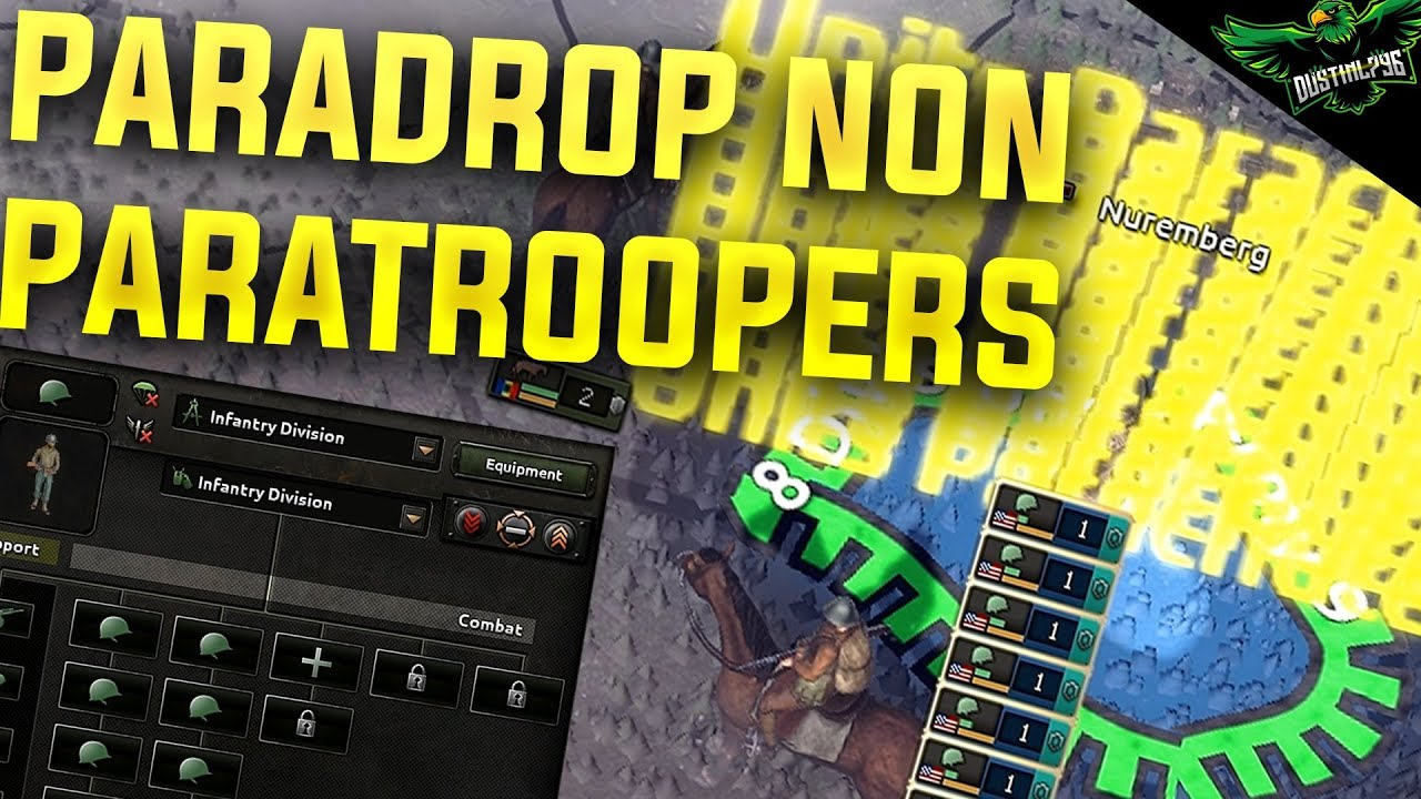 HOI4 Exploits Paradrop non Paratroopers (Hearts of Iron 4 Man the Guns  Exploit Tutorial)