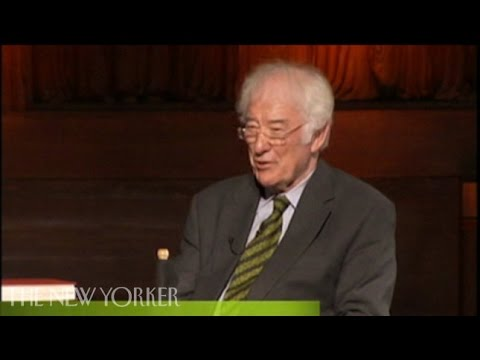 Seamus Heaney on poetry - The New Yorker Festival