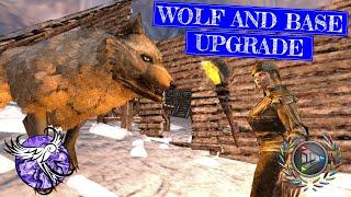 WOLF TAME AND BASE UPGRADES   Arktic Hardcore Survival Episode 16   ARK Survival Evolved Mobiler