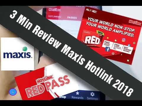Hotlink Maxis 2018 REVIEW ( RED PLAN ) 3/10 BAD For All MALAYSIA Telco Services
