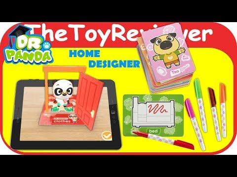 Dr. Panda Plus Home Designer Color App Game 3-D Flashcards Unboxing Toy Review by TheToyReviewer