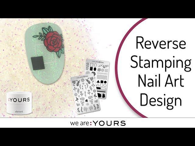 REVERSE SPRING STAMPING NAIL ART