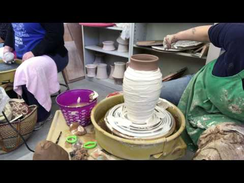12. Jenchi Wu: Slip decoration on a 4 lb Vase