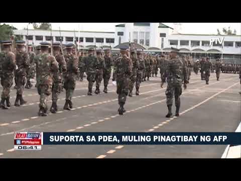 Suporta sa PDEA, muling pinagtibay ng AFP