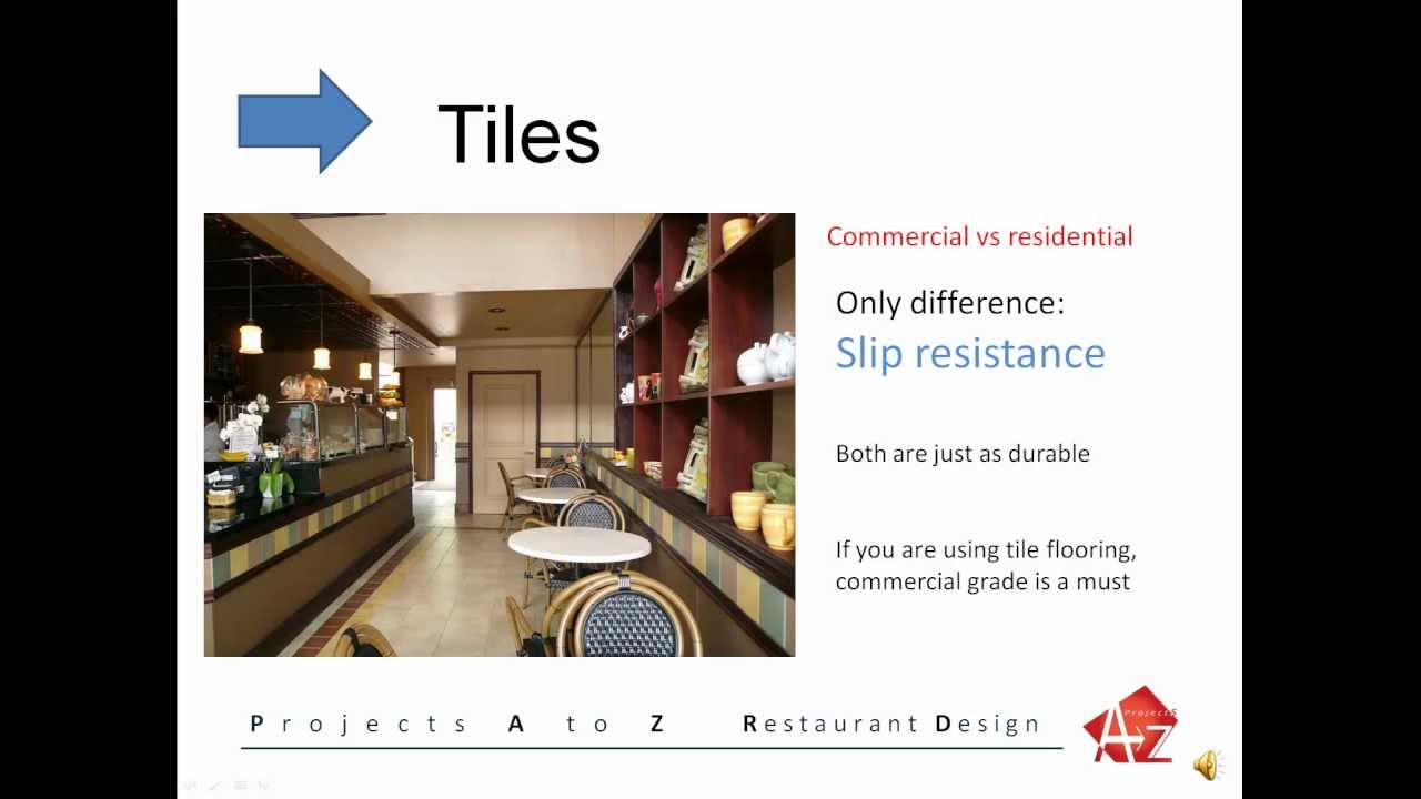 Restaurant design budget concerns flooring