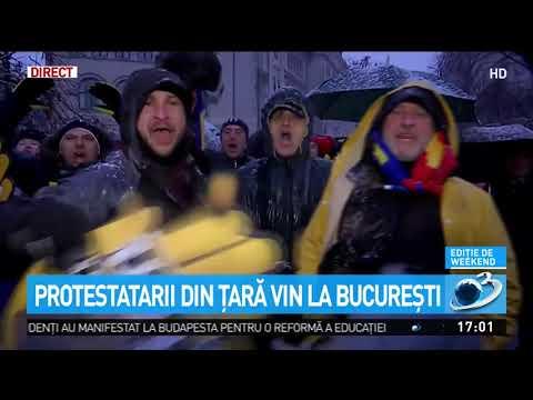 Protestatarii din țară vin la București