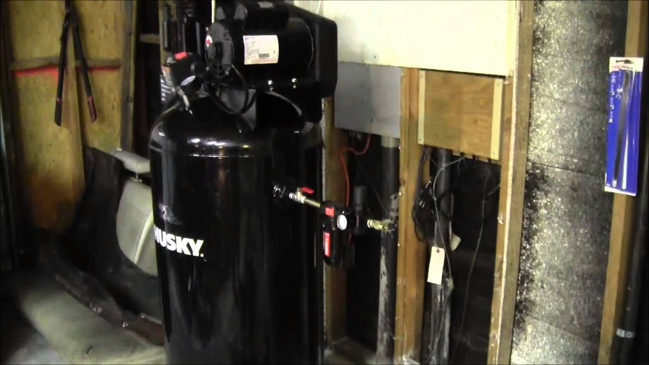 Husky 60 gallon air pressor  YouTube