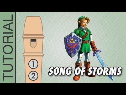 Zelda - Song of Storms - Recorder Notes Tutorial