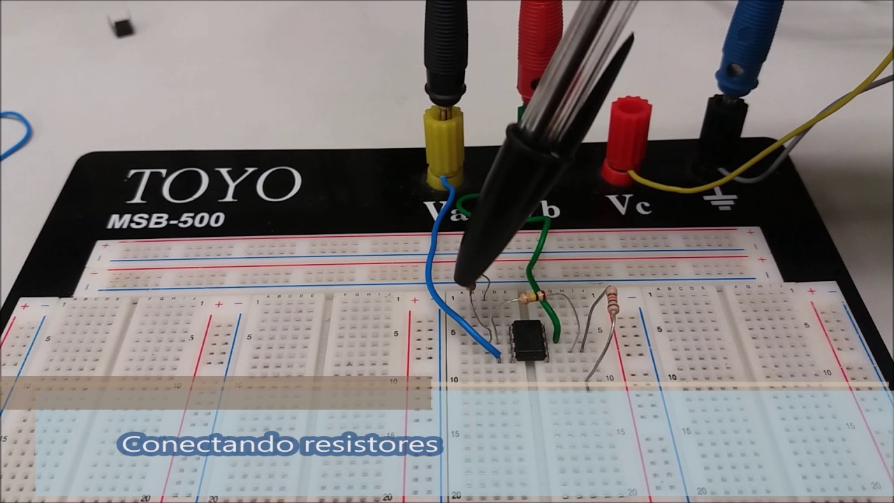 Circuito Operacional : Montagem de um circuito com amplificador operacional youtube