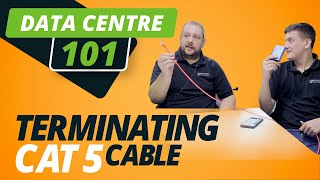 DATA CENTRE 101 | TERMINATING CAT 5 CABLE | ASH & PAV have a CRIMP-OFF!