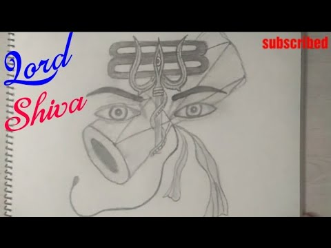 How To Draw Lord Shiva Angry Look Coloring Drawing Step By Step