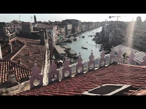 Long Shot Of Grand Canal  Stock Footage