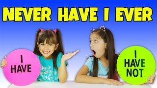 NEVER HAVE I EVER - Embarrassing Questions Challenge | Emily and Evelyn