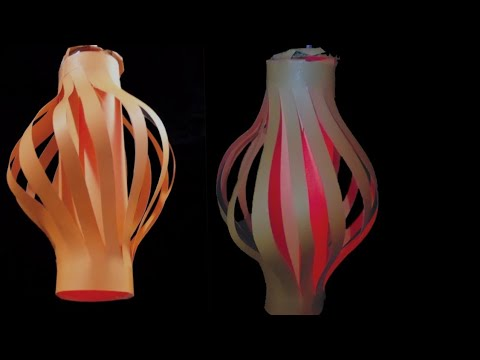 DIY paper lamp/lantern || lamp for festival decoration || easy tutorial ||