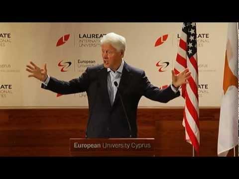 President Bill Clinton at EUC