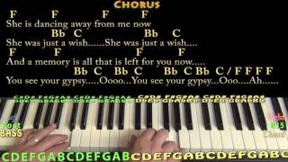 Gypsy (Fleetwood Mac) Piano Cover Lesson in F with Chords/Lyrics
