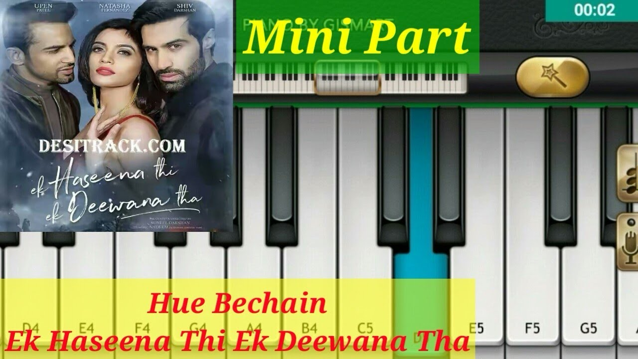 Hue Bechain Yasser Desai Palak Muchhal By Mobile Piano Youtube