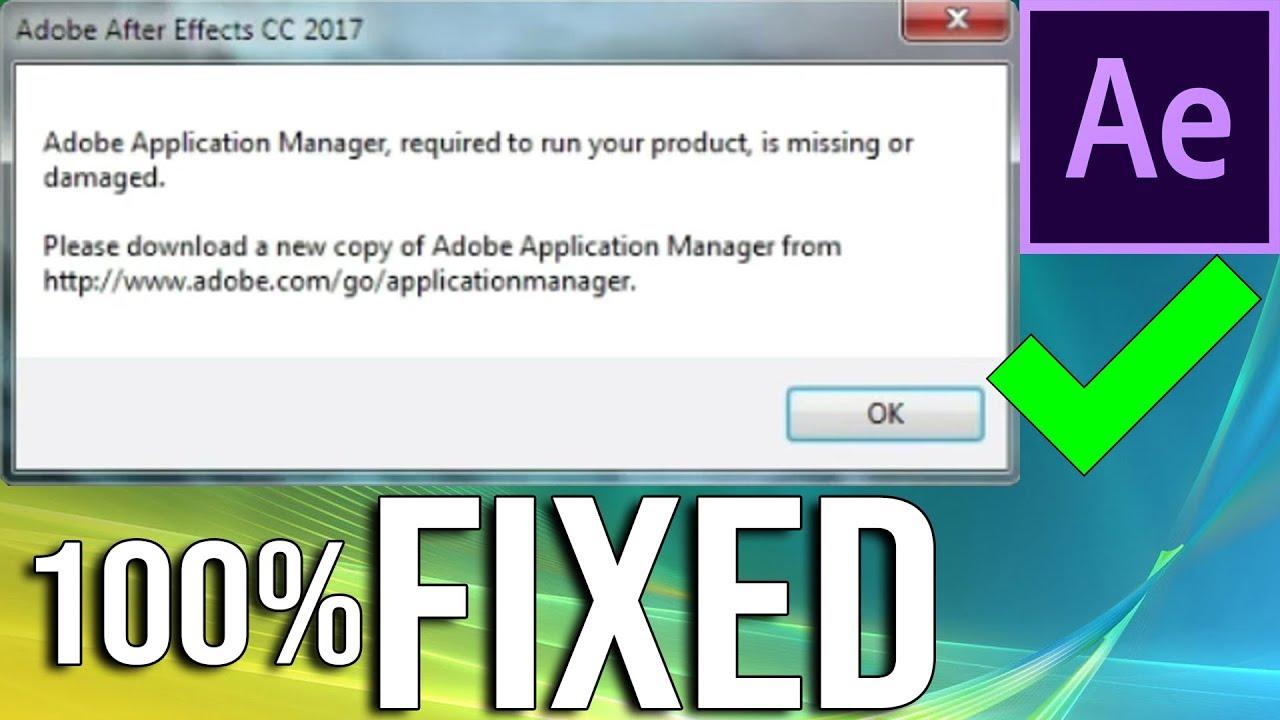 Forum Adobe Application Manager mancante o danneggiato ...