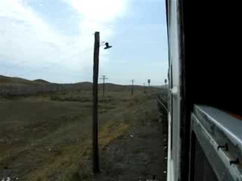 By train across the Kazakh step