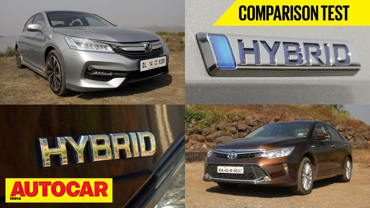 Honda Accord Hybrid Vs Toyota Camry Comparison Test Autocar India You