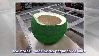 Crea una esfera de 42.000 cerillas para prenderle fuego - Noticias