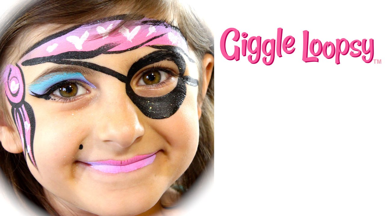 One Stroke Girl Pirate Face Paint Tutorial Giggle